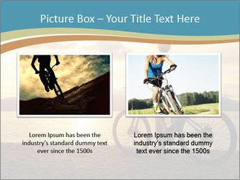 Cyclist Enjoying Sunset PowerPoint Templates - Slide 18