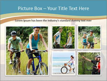 Cyclist Enjoying Sunset PowerPoint Templates - Slide 19
