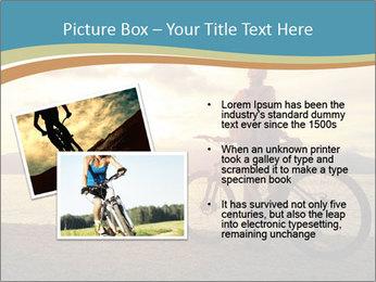 Cyclist Enjoying Sunset PowerPoint Templates - Slide 20