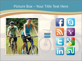 Cyclist Enjoying Sunset PowerPoint Templates - Slide 21