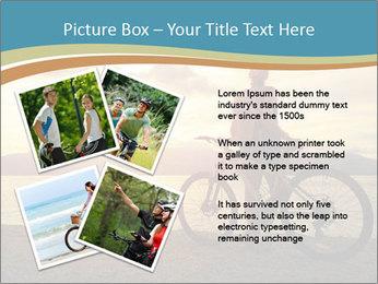 Cyclist Enjoying Sunset PowerPoint Templates - Slide 23