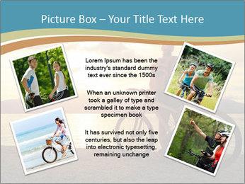 Cyclist Enjoying Sunset PowerPoint Templates - Slide 24