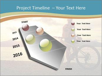 Cyclist Enjoying Sunset PowerPoint Templates - Slide 26
