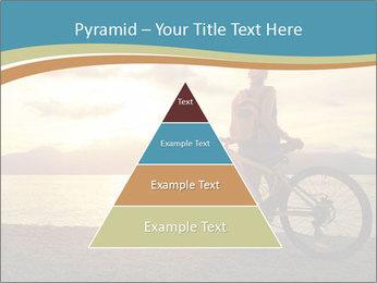 Cyclist Enjoying Sunset PowerPoint Templates - Slide 30