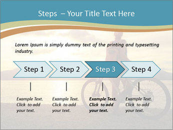 Cyclist Enjoying Sunset PowerPoint Templates - Slide 4