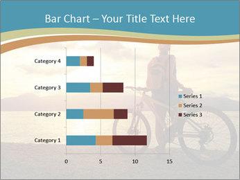 Cyclist Enjoying Sunset PowerPoint Templates - Slide 52