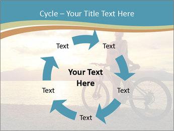 Cyclist Enjoying Sunset PowerPoint Templates - Slide 62