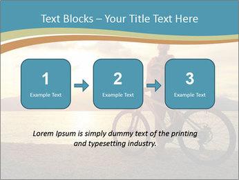 Cyclist Enjoying Sunset PowerPoint Templates - Slide 71