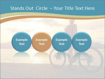 Cyclist Enjoying Sunset PowerPoint Templates - Slide 76