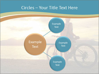 Cyclist Enjoying Sunset PowerPoint Templates - Slide 79