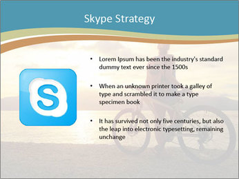 Cyclist Enjoying Sunset PowerPoint Templates - Slide 8