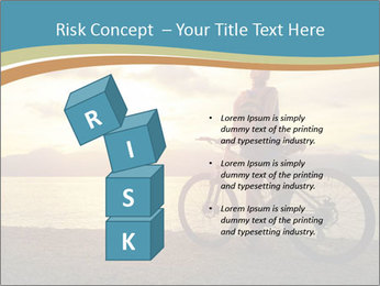 Cyclist Enjoying Sunset PowerPoint Templates - Slide 81