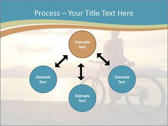 Cyclist Enjoying Sunset PowerPoint Templates - Slide 91