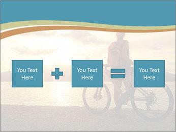 Cyclist Enjoying Sunset PowerPoint Templates - Slide 95