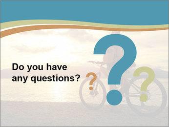 Cyclist Enjoying Sunset PowerPoint Templates - Slide 96