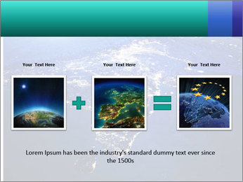 Night India From Space PowerPoint Template - Slide 22