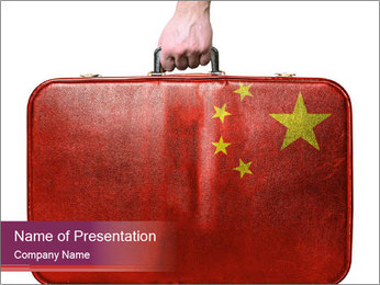 Vintage Travel Briefcase PowerPoint Templates - Slide 1