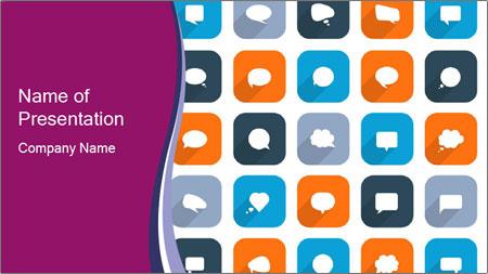 Virtual Dialog Icon PowerPoint Template