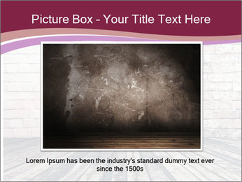 Pink Heart On Grey Wall PowerPoint Templates - Slide 15