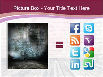 Pink Heart On Grey Wall PowerPoint Templates - Slide 21