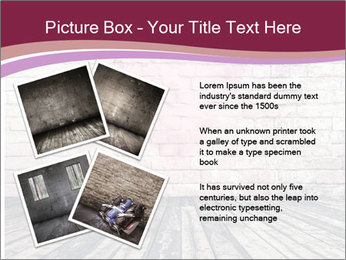 Pink Heart On Grey Wall PowerPoint Templates - Slide 23