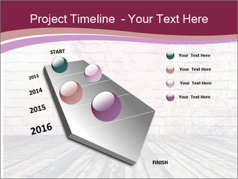 Pink Heart On Grey Wall PowerPoint Template - Slide 26