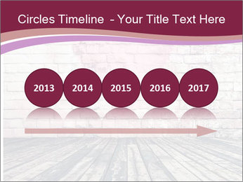 Pink Heart On Grey Wall PowerPoint Templates - Slide 29