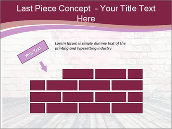 Pink Heart On Grey Wall PowerPoint Template - Slide 46