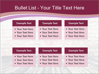 Pink Heart On Grey Wall PowerPoint Templates - Slide 56