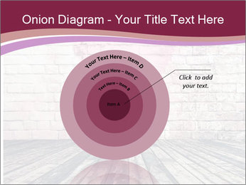 Pink Heart On Grey Wall PowerPoint Template - Slide 61