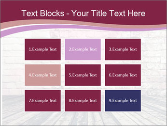 Pink Heart On Grey Wall PowerPoint Templates - Slide 68