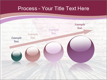 Pink Heart On Grey Wall PowerPoint Templates - Slide 87