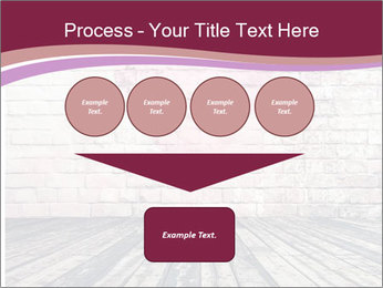 Pink Heart On Grey Wall PowerPoint Template - Slide 93