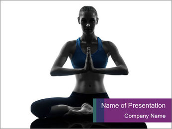 Yogini Shadow PowerPoint Template - Slide 1