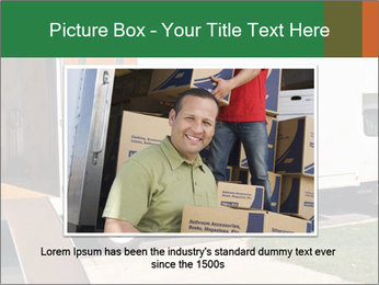 White Cargo Truck PowerPoint Template - Slide 15