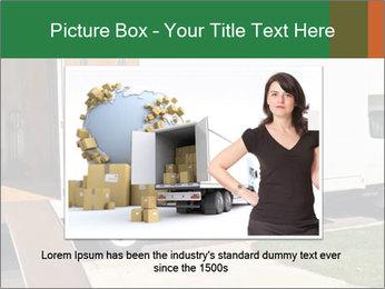 White Cargo Truck PowerPoint Templates - Slide 16
