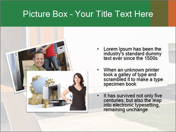 White Cargo Truck PowerPoint Template - Slide 20