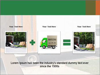 White Cargo Truck PowerPoint Template - Slide 22