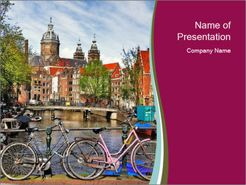 City In Holland PowerPoint Template - Slide 1