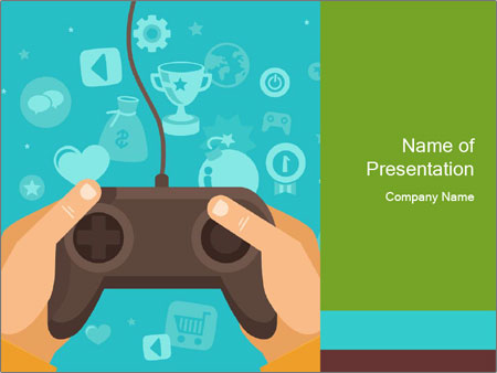 Video Game Powerpoint Template Kubreforic