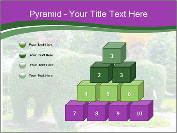 Elephant Made Of Grass PowerPoint Template - Slide 31