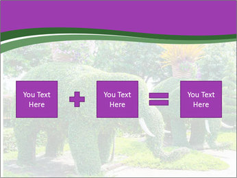 Elephant Made Of Grass PowerPoint Template - Slide 95