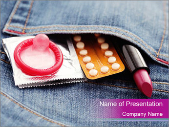 Birth Control For Women PowerPoint Template - Slide 1