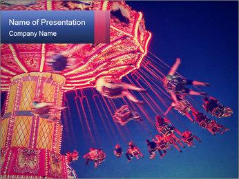 Retro Amusement Park PowerPoint Template - Slide 1