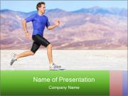 Strong Man Jogging PowerPoint Template