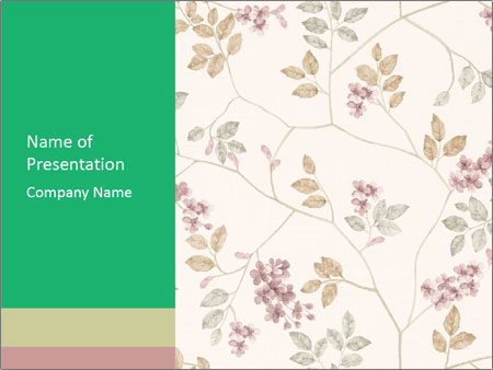 Vintage Floral Pattern PowerPoint Template