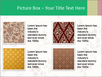 Vintage Floral Pattern PowerPoint Template - Slide 14