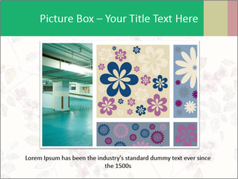 Vintage Floral Pattern PowerPoint Template - Slide 15