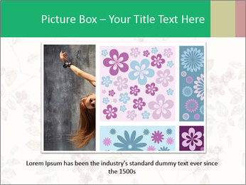 Vintage Floral Pattern PowerPoint Template - Slide 16