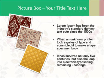 Vintage Floral Pattern PowerPoint Template - Slide 17